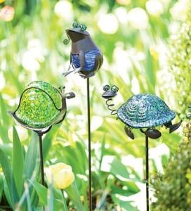 Glowing Solar Garden Stakes