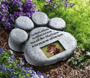 pet garden stone